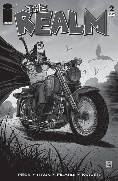REALM #2 CVR D B&W WALKING DEAD #15 TRIBUTE VAR