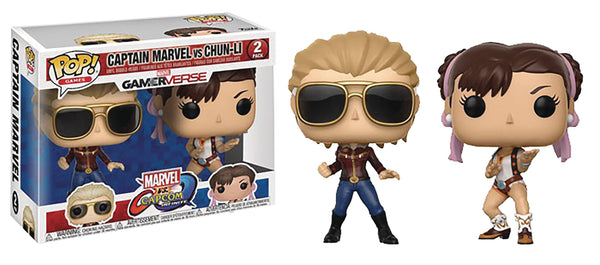 POP MARVEL VS CAPCOM CAPT MARVEL VS CHUN-LI VINYL FIGURE