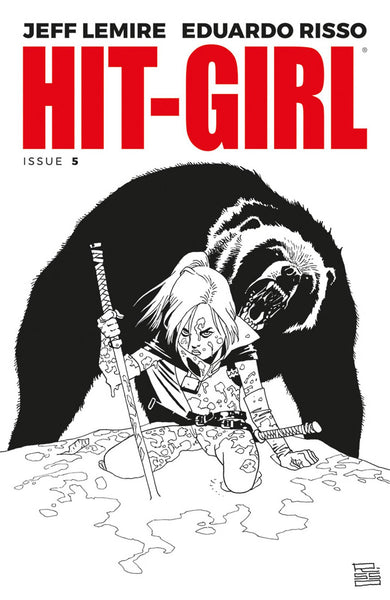 HIT-GIRL VOL 2 #5 CVR B B&W RISSO