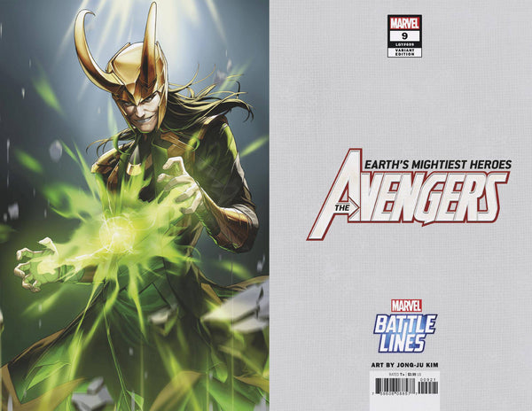 AVENGERS VOL 7 #9 SUJIN JO MARVEL BATTLE LINES VAR
