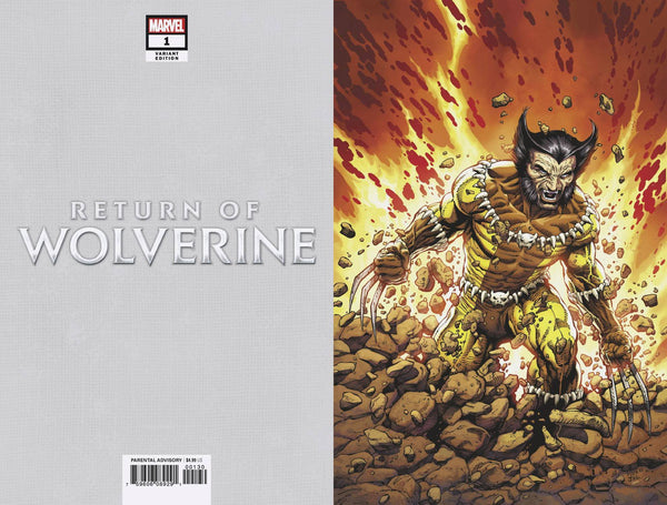 RETURN OF WOLVERINE #1 MCNIVEN FANG COSTUME VIRGIN VARIANT COVER