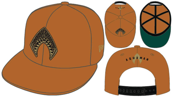 AQUAMAN MOVIE RUST ORANGE PX SNAP BACK CAP