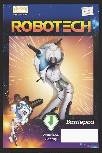 ROBOTECH VOL 3 #22 CVR B VEHICLE ACTION FIGURE VAR