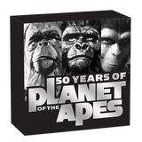 PLANET OF THE APES 50TH ANNIVERSARY 2018 1OZ SILVER PROOF COIN