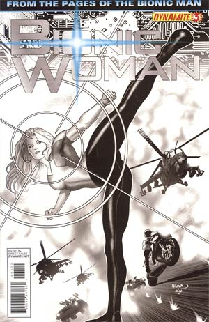 BIONIC WOMAN VOL 2 #3 15 COPY RENAUD B&W INCV