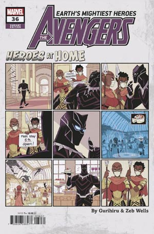 AVENGERS VOL 7 #36 GURIHIRU HEROES AT HOME VAR
