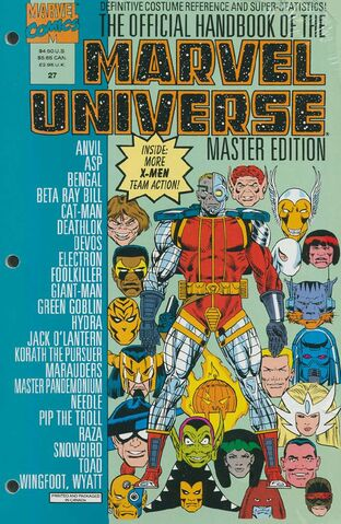 OFFICIAL HANDBOOK OF THE MARVEL UNIVERSE MASTER EDITION (1990) #27 - Kings Comics