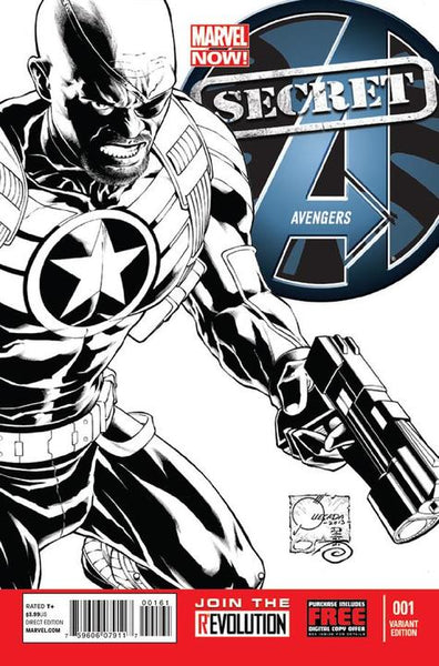 SECRET AVENGERS VOL 2 #1 QUESADA SKETCH VAR NOW