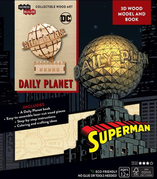 INCREDIBUILDS SUPERMAN DAILY PLANET DLX MODEL W BOOK
