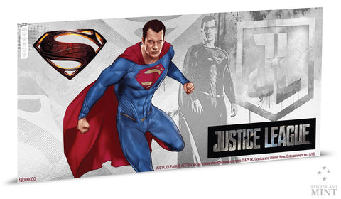 JUSTICE LEAGUE SERIES - SUPERMAN 5g SILVER COIN NOTE