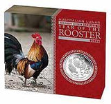 AUSTRALIAN LUNAR SERIES II 2017 YEAR OF THE ROOSTER 1oz SILVER COIN