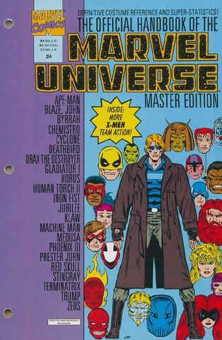 OFFICIAL HANDBOOK OF THE MARVEL UNIVERSE MASTER EDITION (1990) #24 - Kings Comics