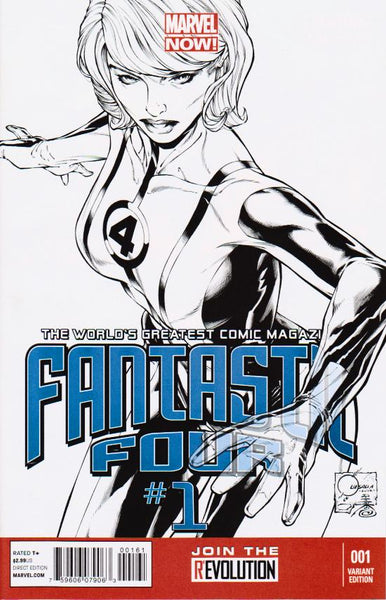 FANTASTIC FOUR VOL 4 #1 QUESADA SKETCH VAR NOW