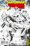 SUPERMAN WONDER WOMAN #2 BLACK AND WHITE VAR ED