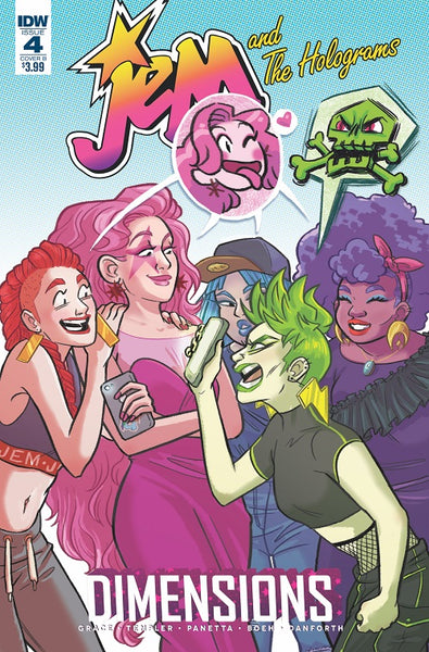 JEM & THE HOLOGRAMS DIMENSIONS #4 CVR B FISCHER