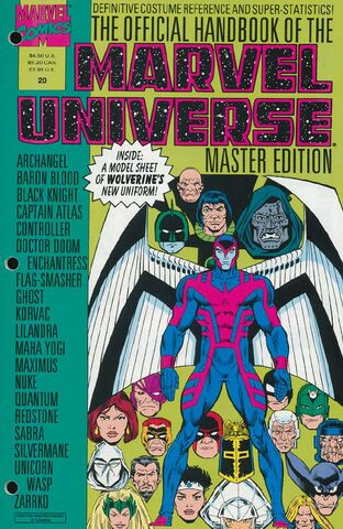 OFFICIAL HANDBOOK OF THE MARVEL UNIVERSE MASTER EDITION (1990) #20 - Kings Comics