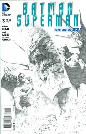 BATMAN SUPERMAN #3 BLACK & WHITE VAR ED - Kings Comics