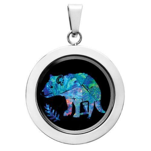 LOCKET PENDANT - TASMANIAN DEVIL OPAL - Kings Comics