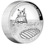 50TH ANNIVERSARY OF THE MOON LANDING 2019 5oz SILVER PROOF HIGH RELIEF COIN