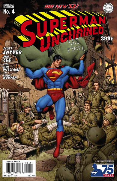 SUPERMAN UNCHAINED #4 75TH ANNIV VAR ED GOLDEN AGE