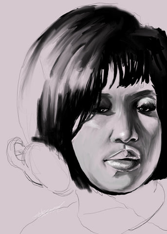 "LIMITED EDITION ""UNFINISHED"" SERIES - ARETHA FRANKLIN"
