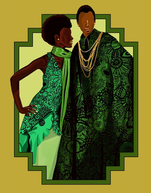 """green and gold""  LIMITED EDITION PRINT"