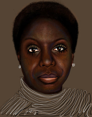 "LIMITED EDITION ""UNFINISHED"" SERIES - NINA SIMONE"