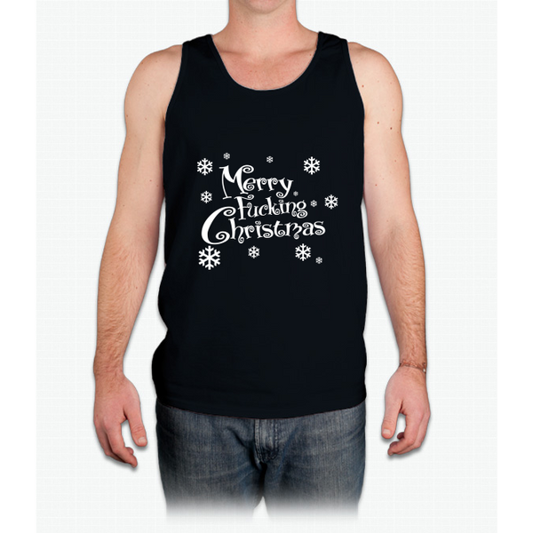 Merry Fucking Christmas - Mens Tank Top