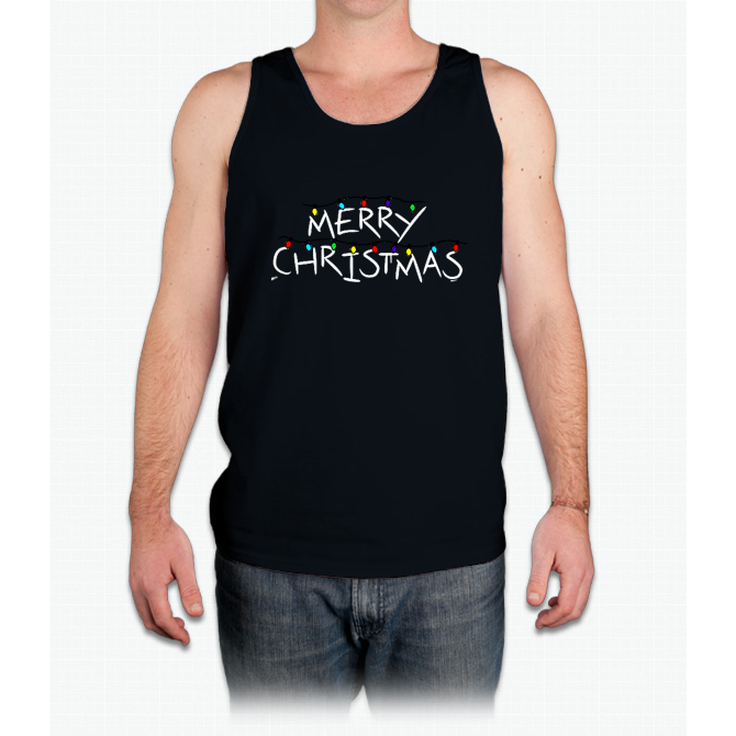 Merry Christmas Flash - Mens Tank Top