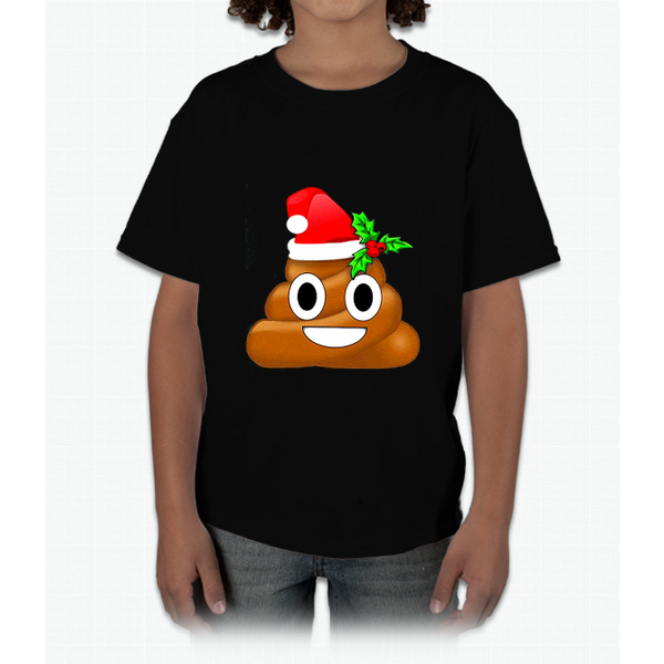 Merry Christmas Holiday Poop Emoji Young T-Shirt