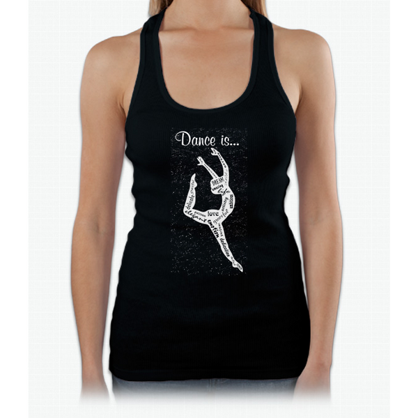 Arrow Glitter Youth Dance Is..(love, Emtion, Graceful,..) Tshirt Womens Tank Top