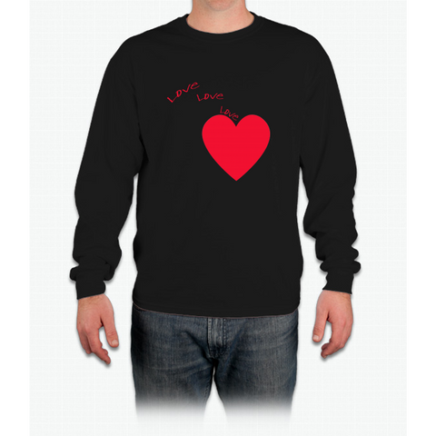 """love Love Love"" Happy Valentine Day Long Sleeve T-Shirt"