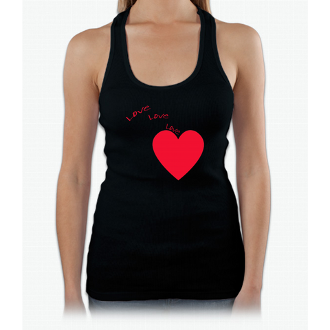 """love Love Love"" Happy Valentine Day Womens Tank Top"