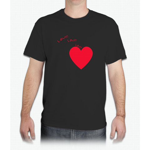 """love Love Love"" Happy Valentine Day - Mens T-Shirt"