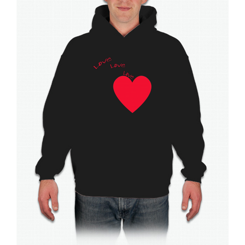 """love Love Love"" Happy Valentine Day Hoodie"