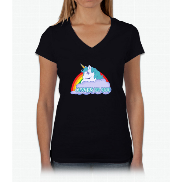 Always Be You - Central Intelligence - Unicorn Bob Stone Womens V-Neck T-Shirt
