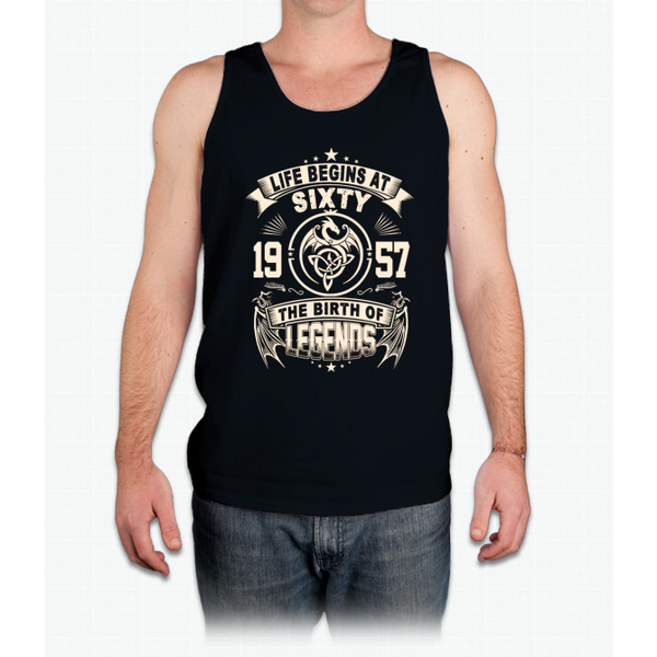 60th Birthday Gifts - 1957 The Birth Of Legends - Mens Tank Top