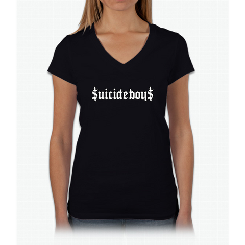 $uicideboy$ (suicideboys) Womens V-Neck T-Shirt