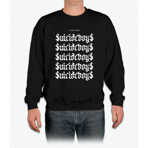 $uicideboy$ G59 Trap Trill White Logo Crewneck Sweatshirt