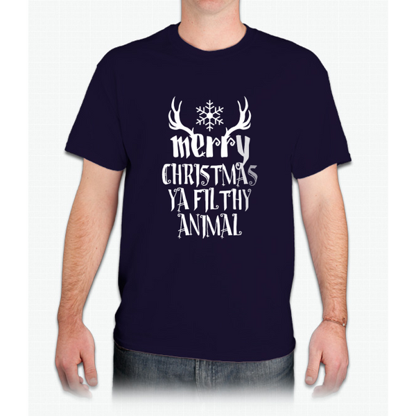 """merry Christmas Ya Filthy Animal"" Christmas - Mens T-Shirt"