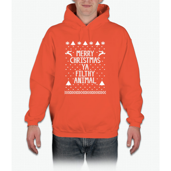 Christmas T-shirt - Merry Christmas Ya Filthy Animal Hoodie