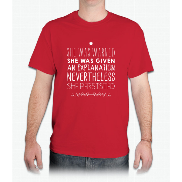"""nevertheless, She Persisted"" (white Font) - Mens T-Shirt"