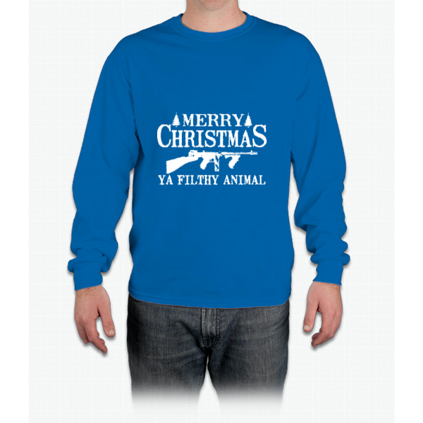 Merry Christmas Ya Filthy Animal Christmas Holiday T-shirt Long Sleeve T-Shirt