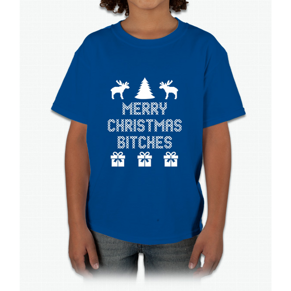 Awkwardstyles Women's Merry Christmas Btches T-shirt Gift For X-mas Shirt Young T-Shirt