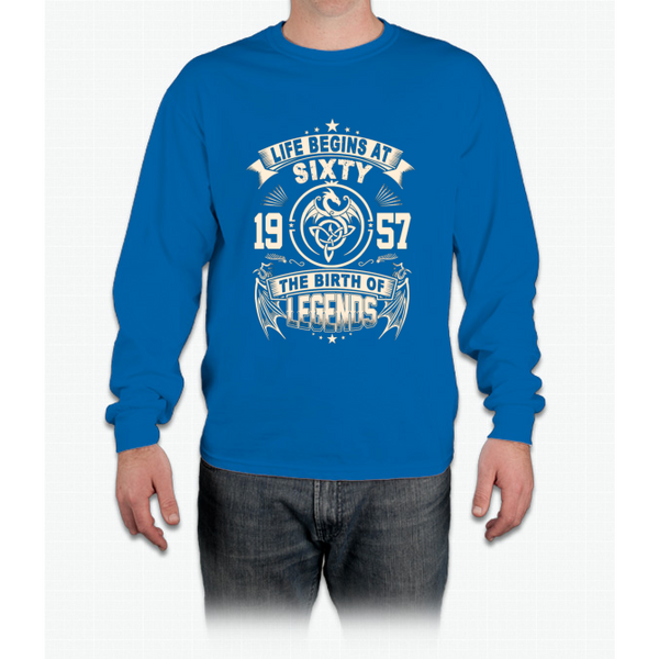 60th Birthday Gifts - 1957 The Birth Of Legends Long Sleeve T-Shirt