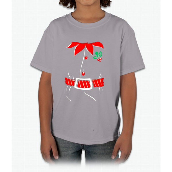 Awkwardstyles Elf Costume T-shirt Santa Holiday Christmas Shirt Young T-Shirt