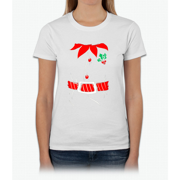 Awkwardstyles Elf Costume T-shirt Santa Holiday Christmas Shirt Womens T-Shirt