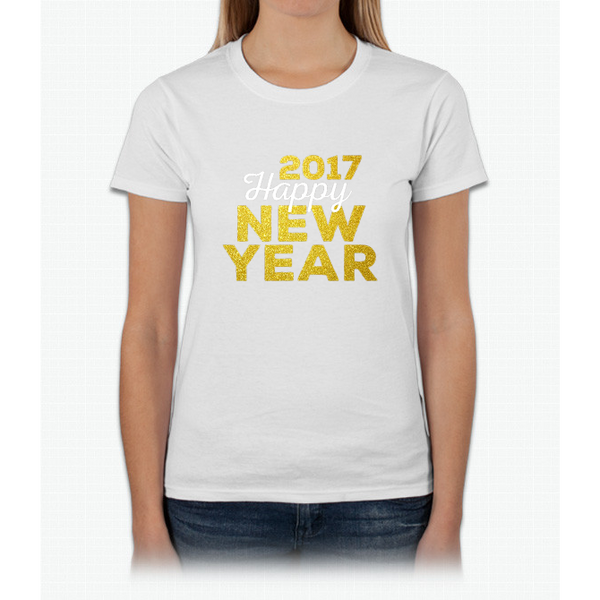 2017 Happy New Year Gold Look | Relaxed Fit Womens T-Shirt