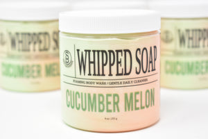 Cucumber Melon Whipped Soap - Foaming Body Wash