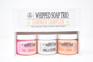 Whipped Soap Trio - Summer Sampler